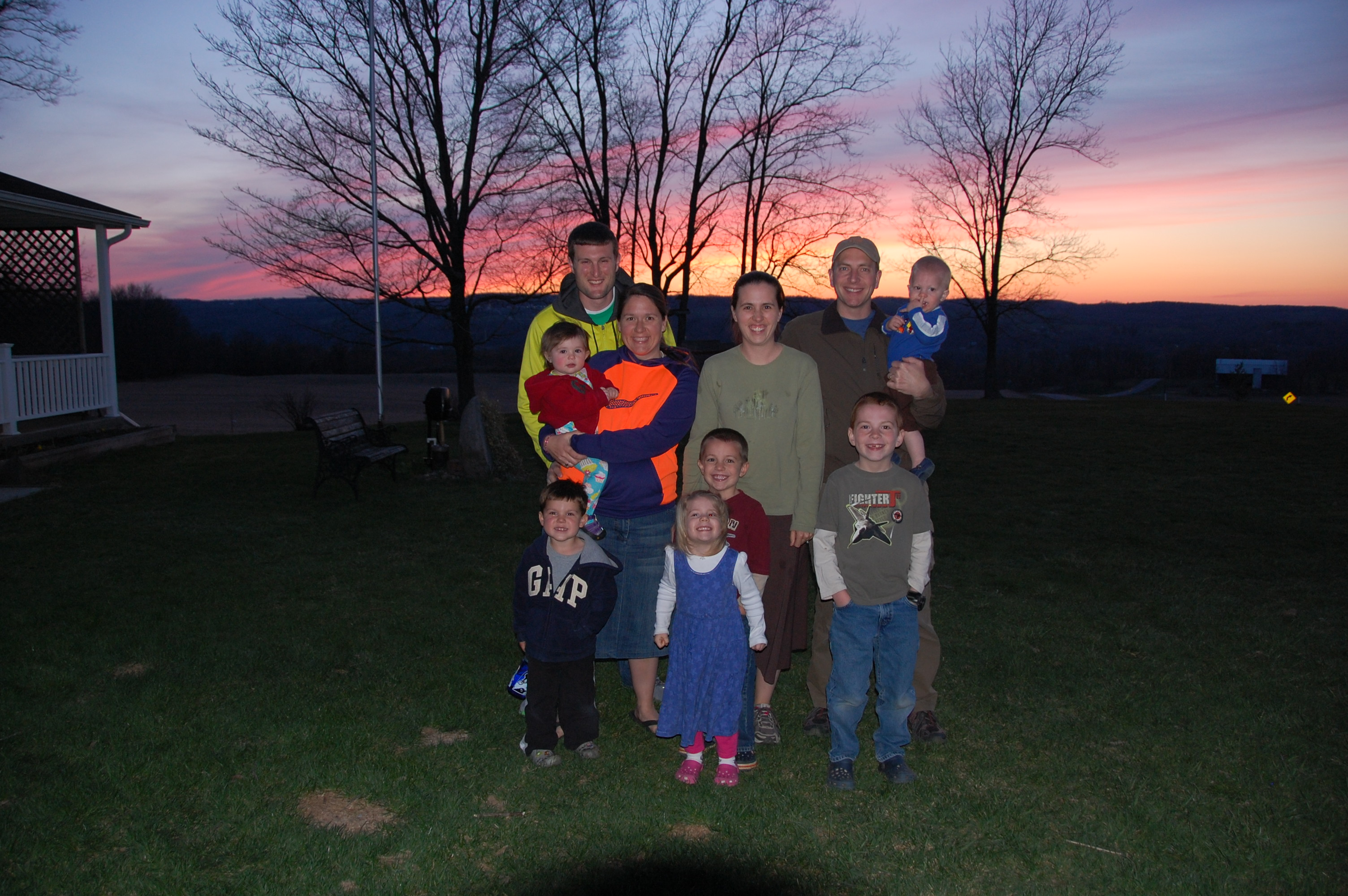 Our traveling party with the beautiful sunset.