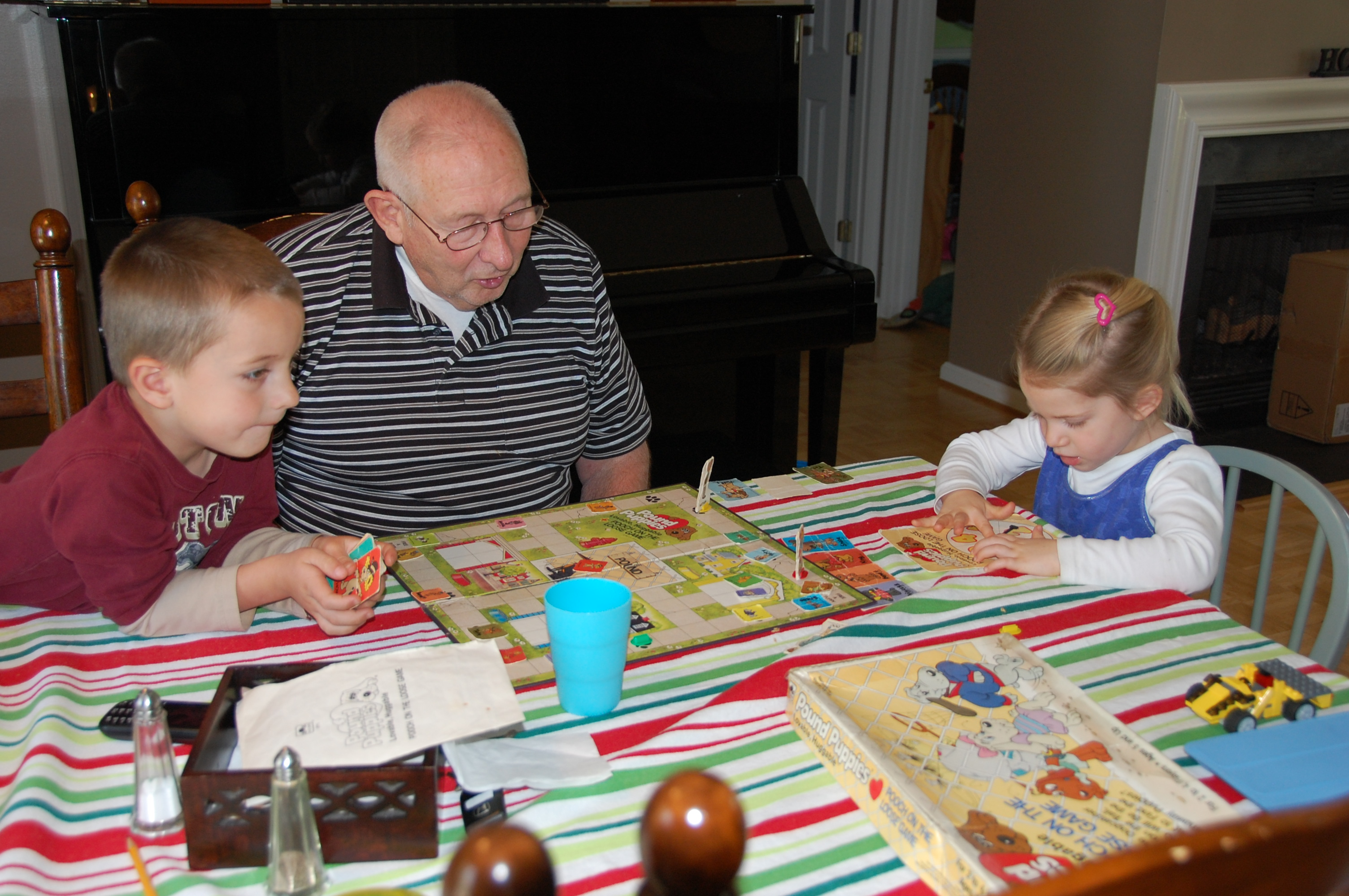 Playing Pound Puppies with Grandpa Keith