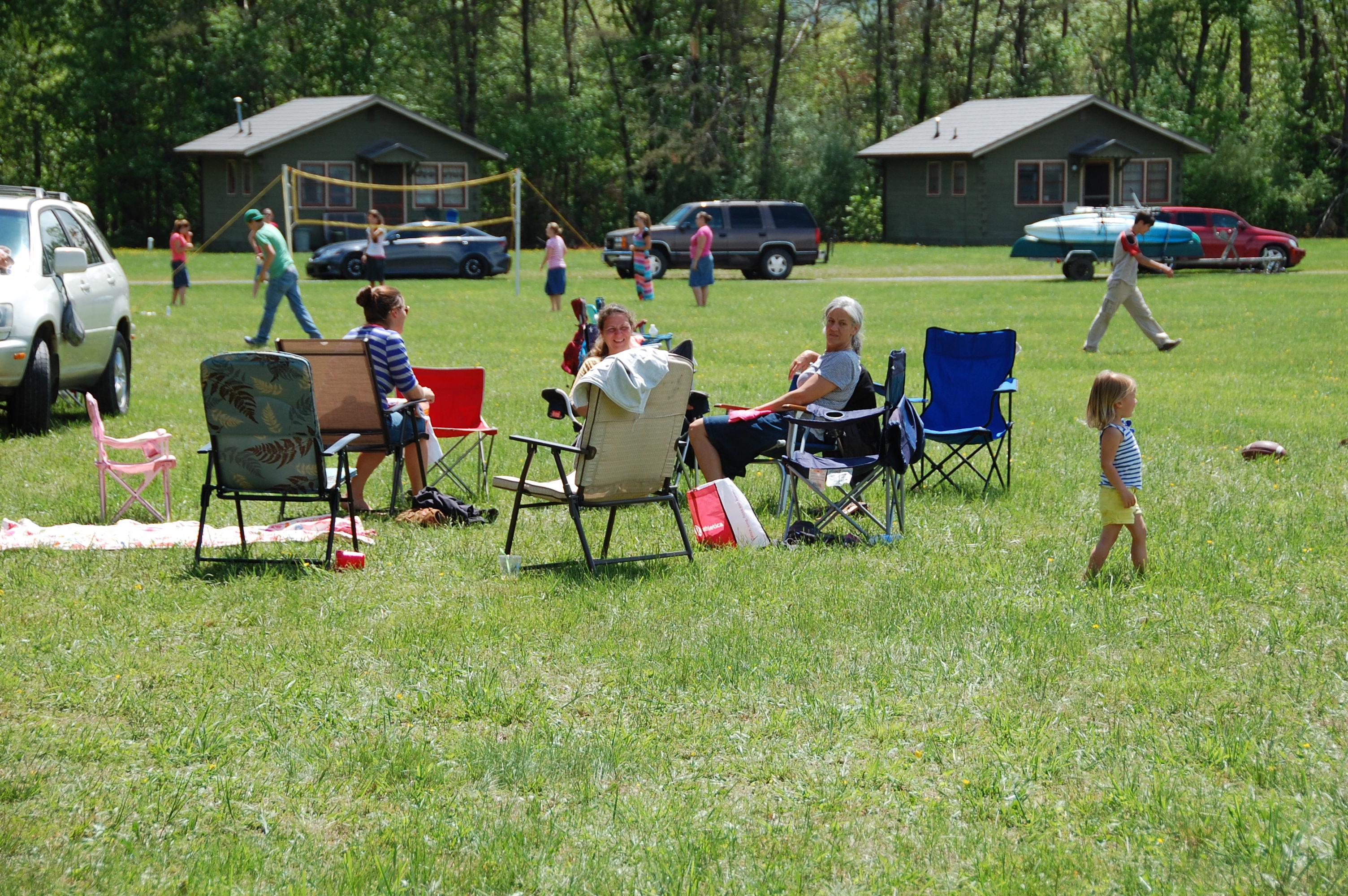 Lots of visiting & ball (and enjoying the sun)
