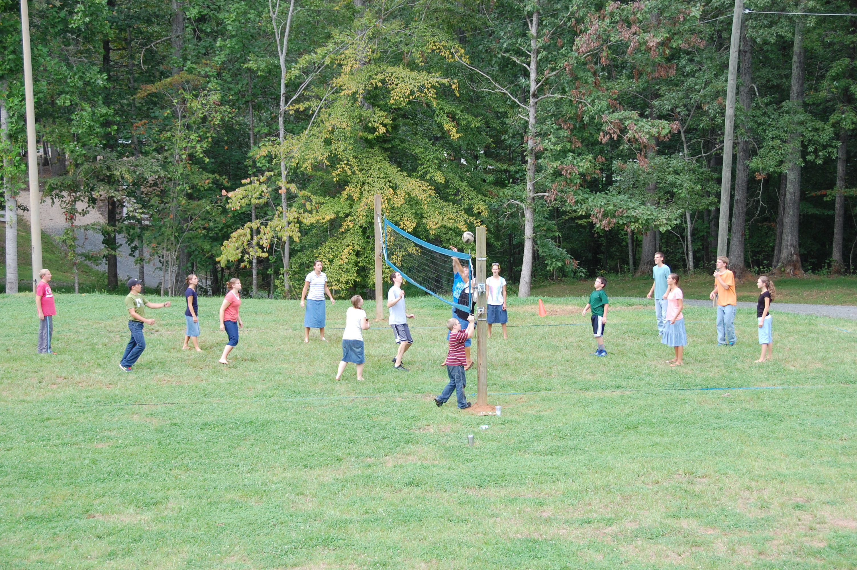 Young people's volleyball