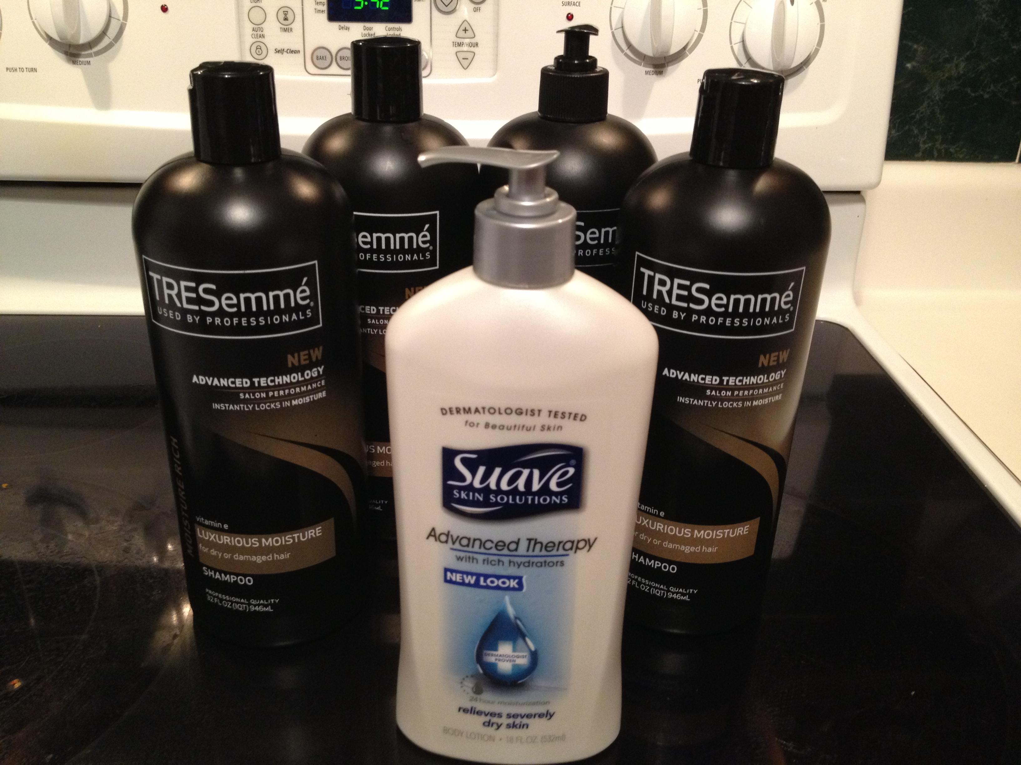 4 bottles of Tresseme & 1 bottle of lotion