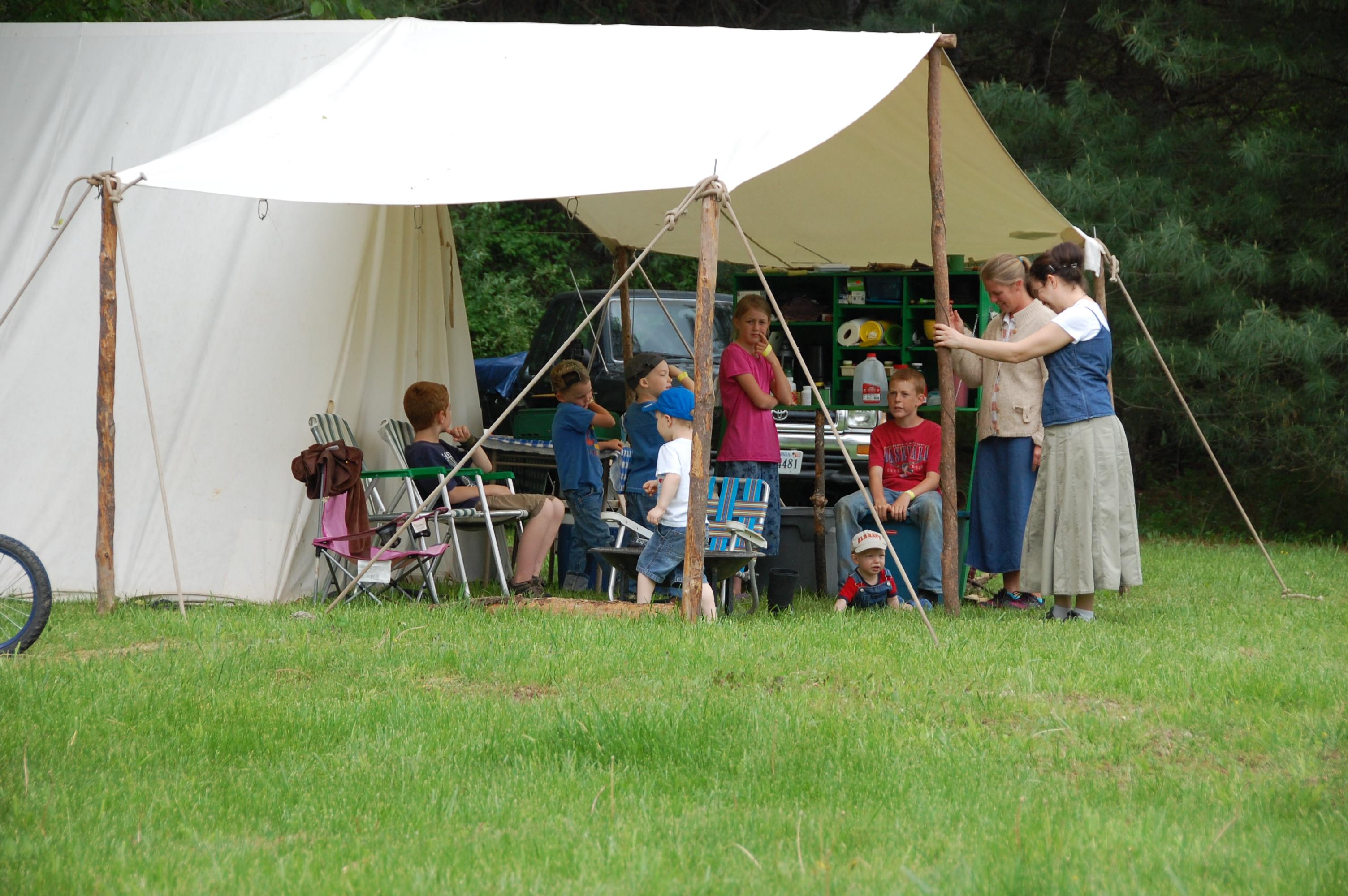 Matt & Amy's campsite