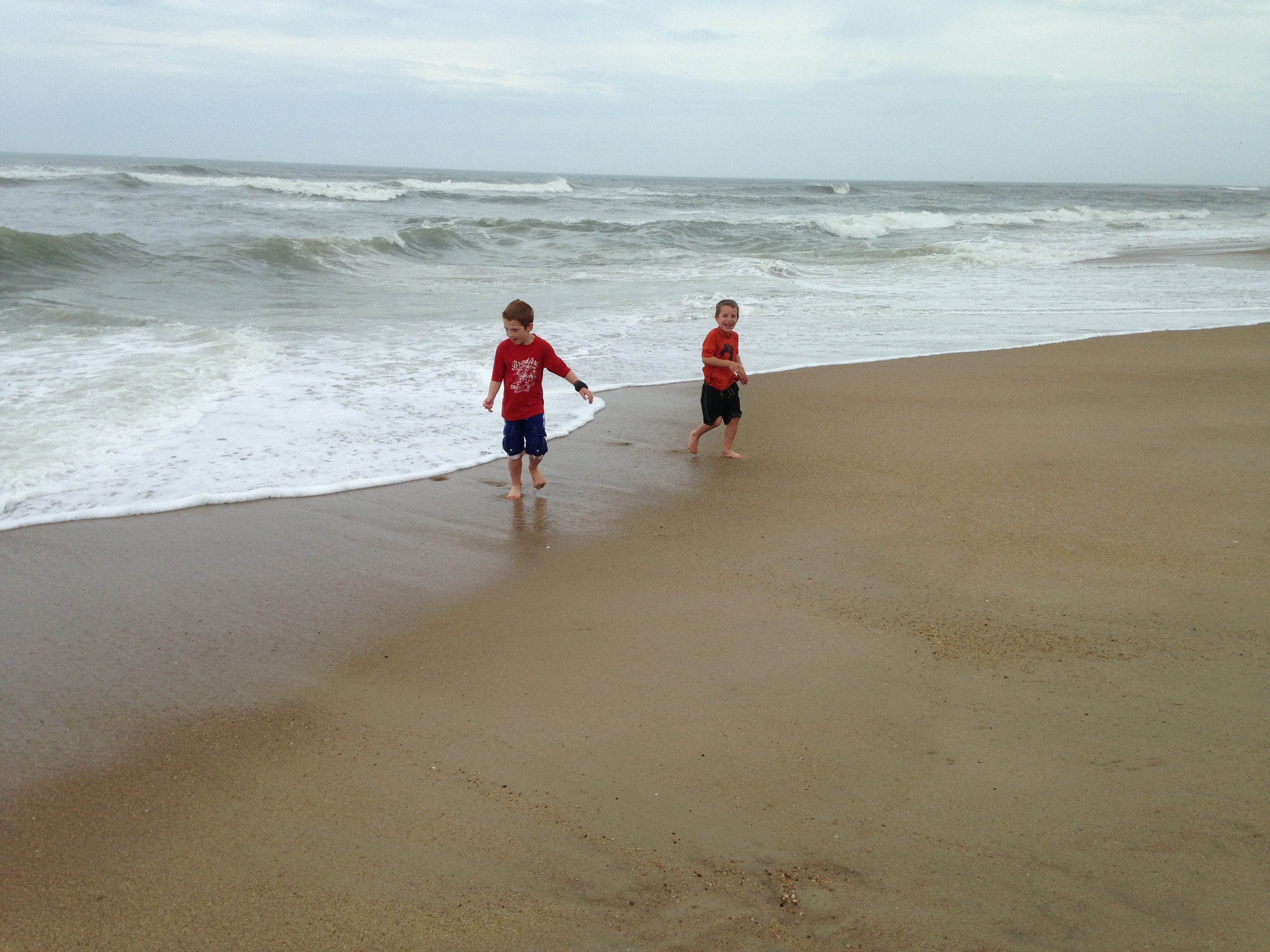 The boys really enjoyed the water!
