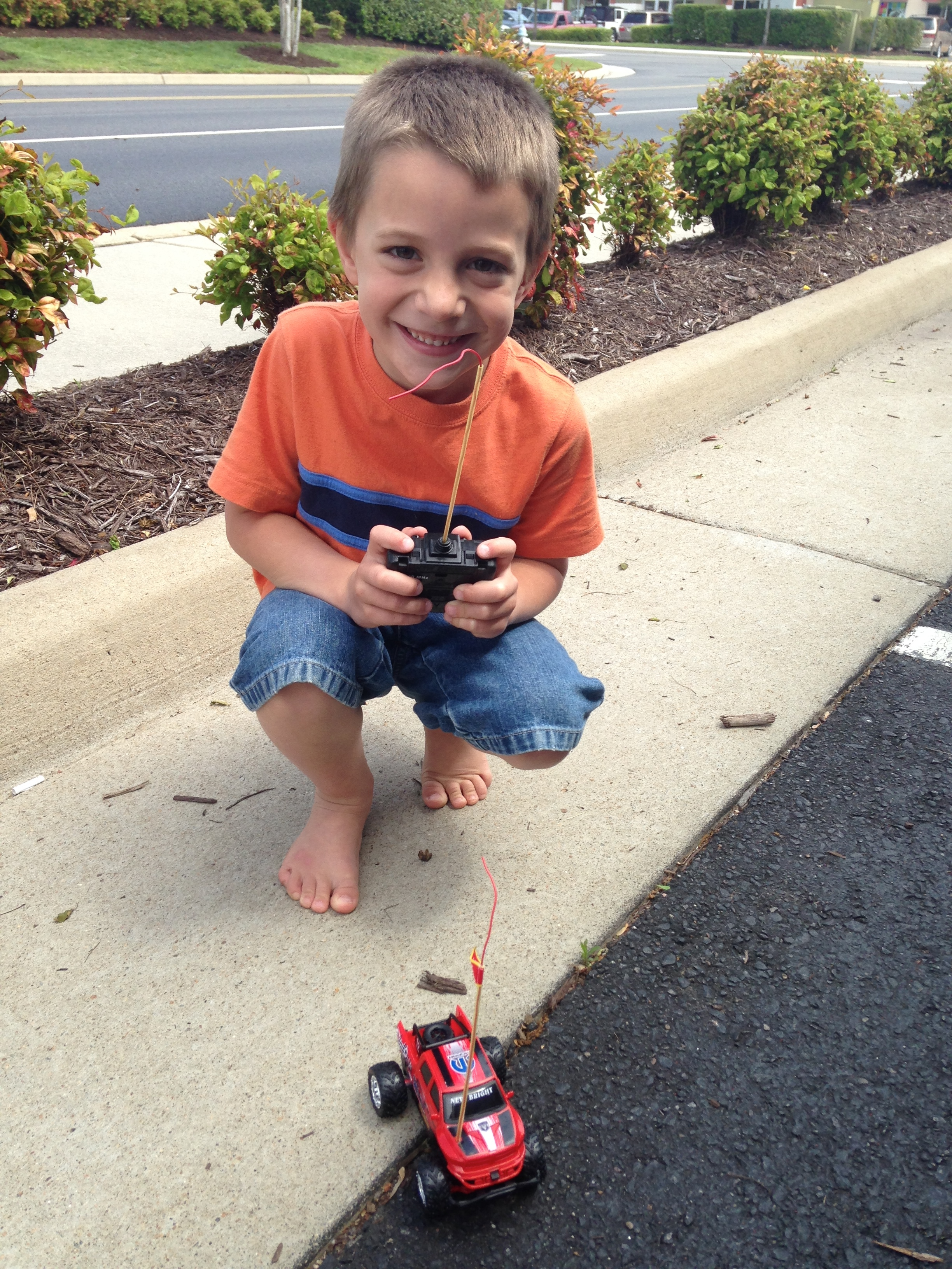 Bryant and his new remote control truck