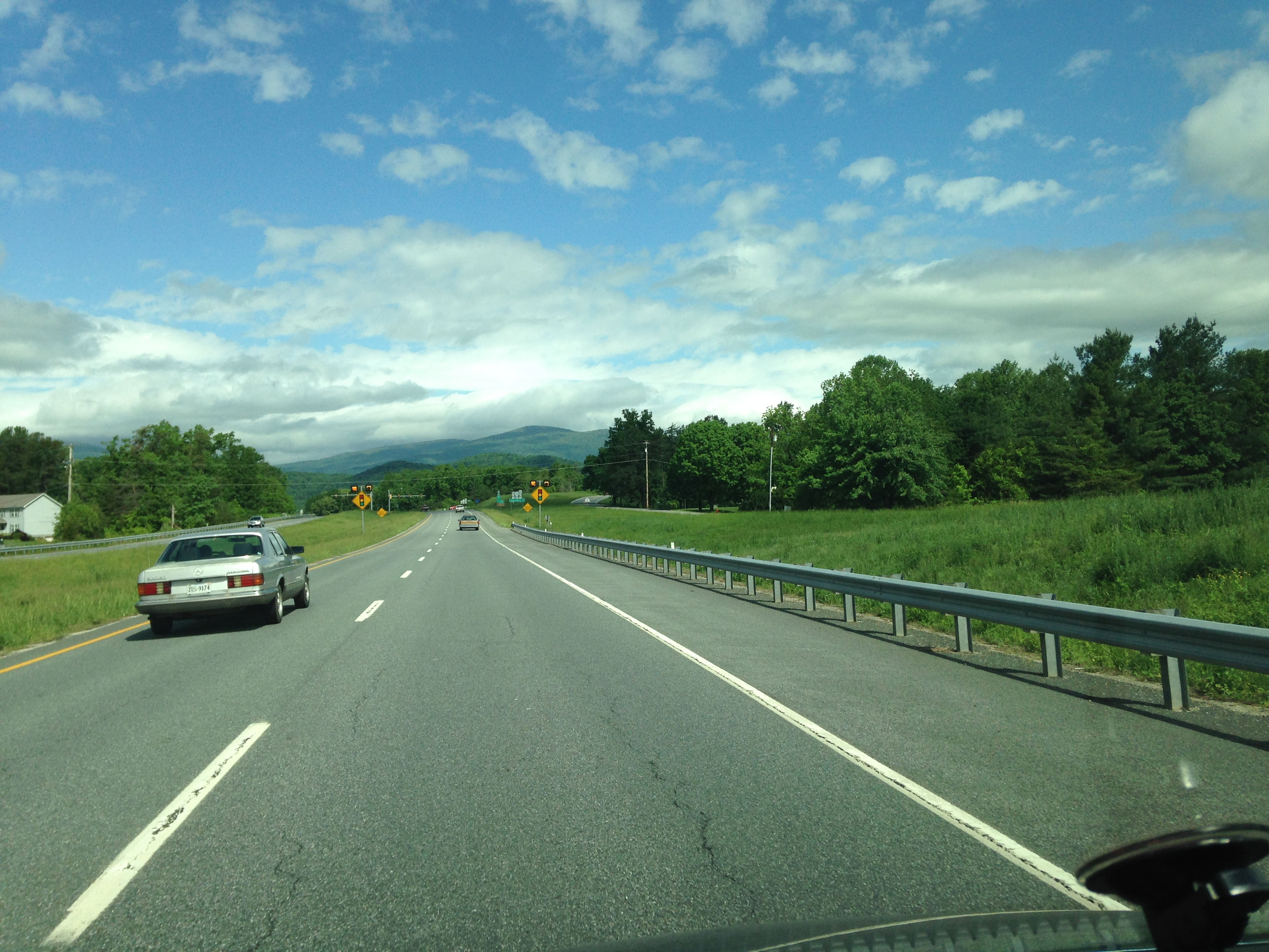May 16-The mountains and sky were so pretty that day. I had to take this picture on my way to Stanardsville.