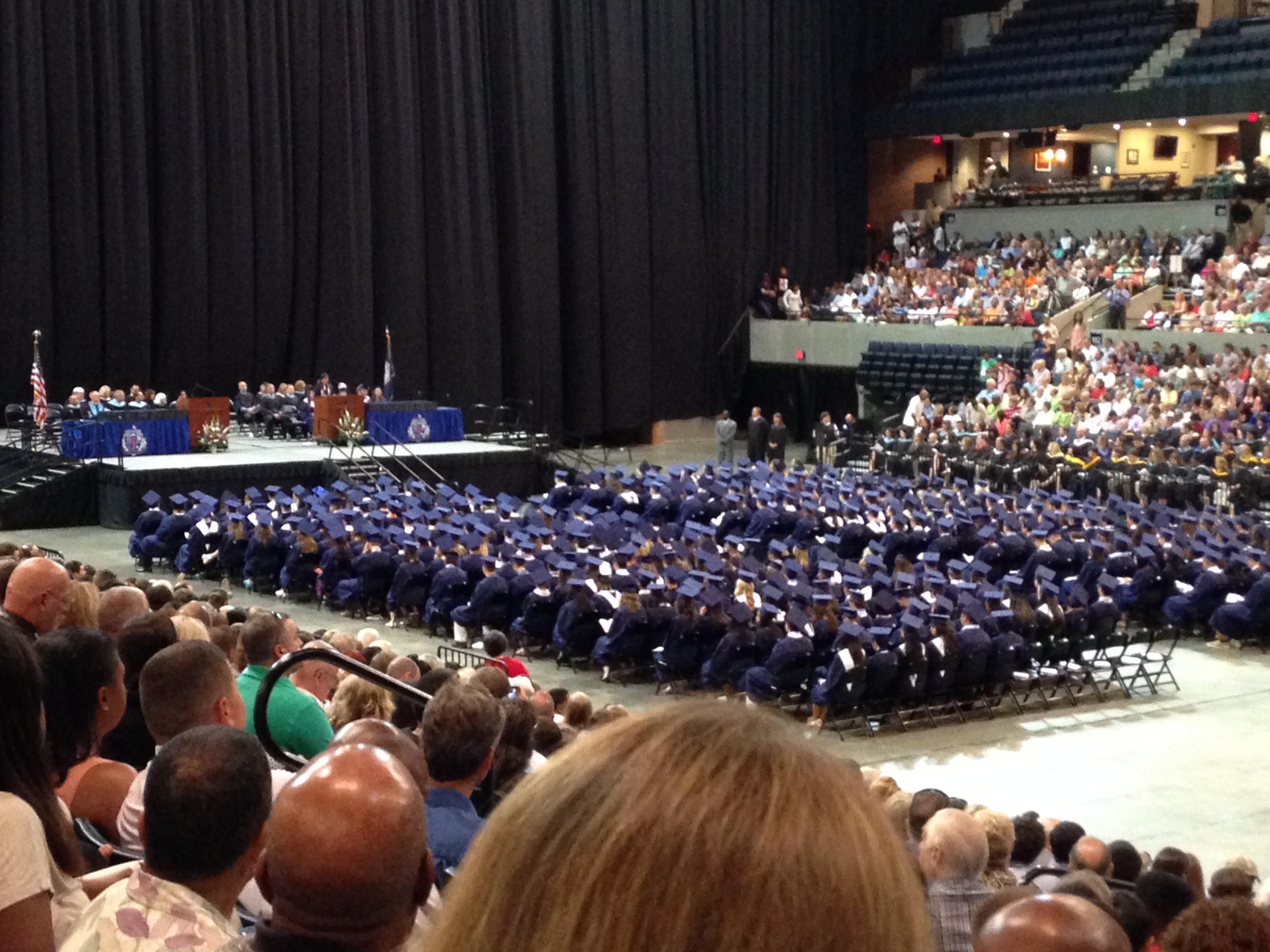 The sea of graduating students.