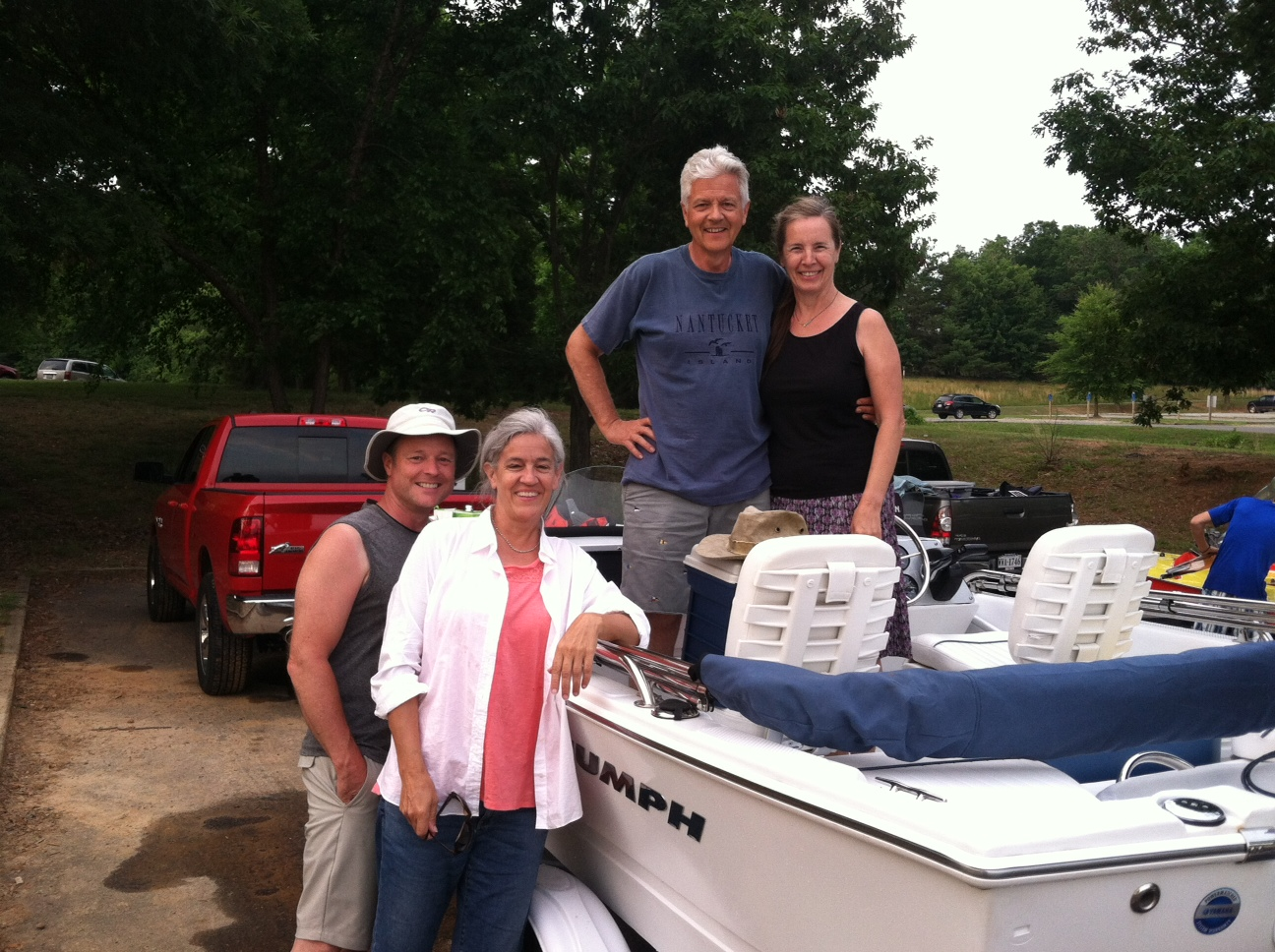 The Fishing Boat Crew: Steven & Amy Dunavant & Robert & Jill Cox