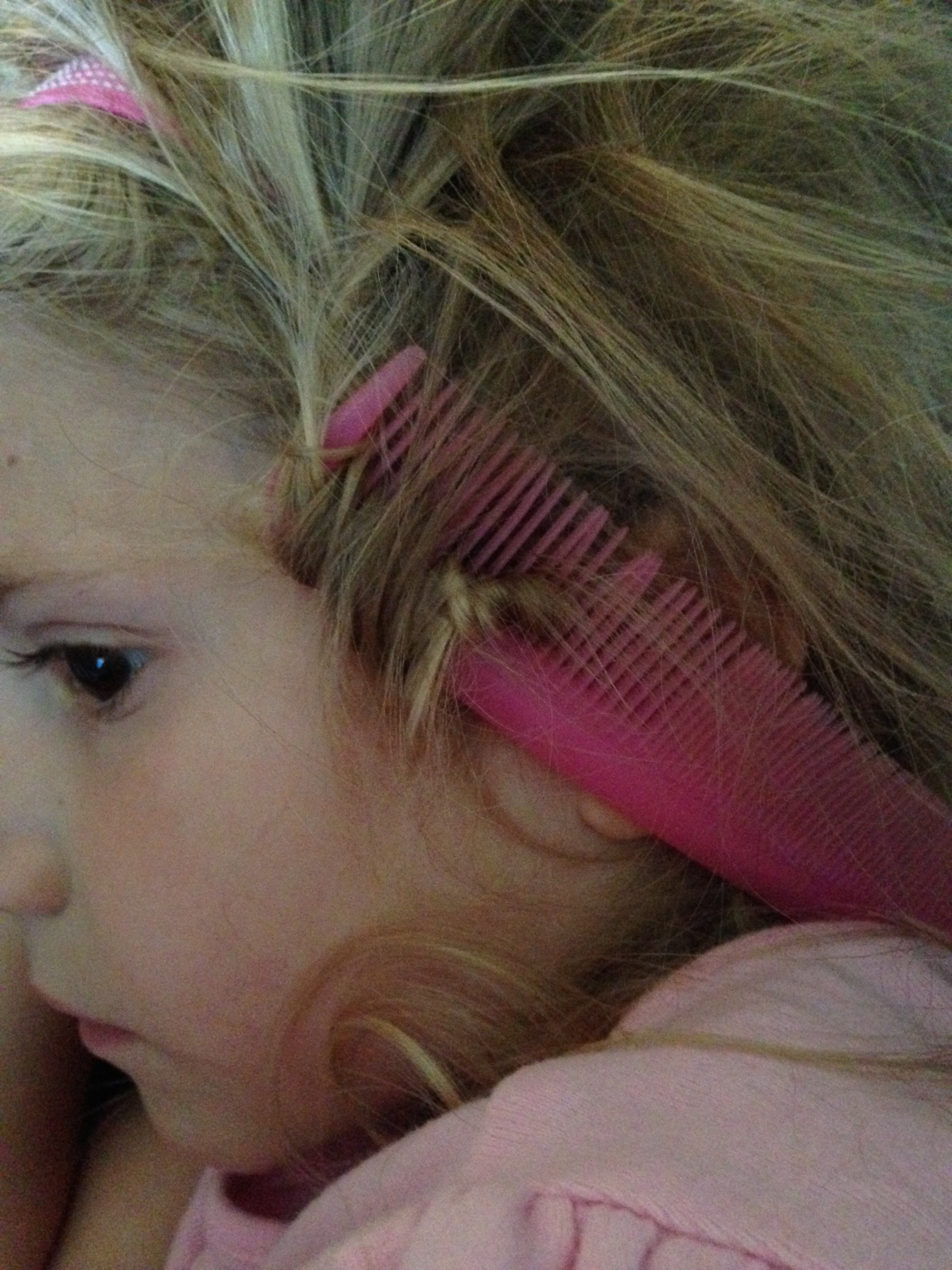 Never take a comb to bed when you are supposed to be taking a nap! It has a way of getting stuck in your hair!
