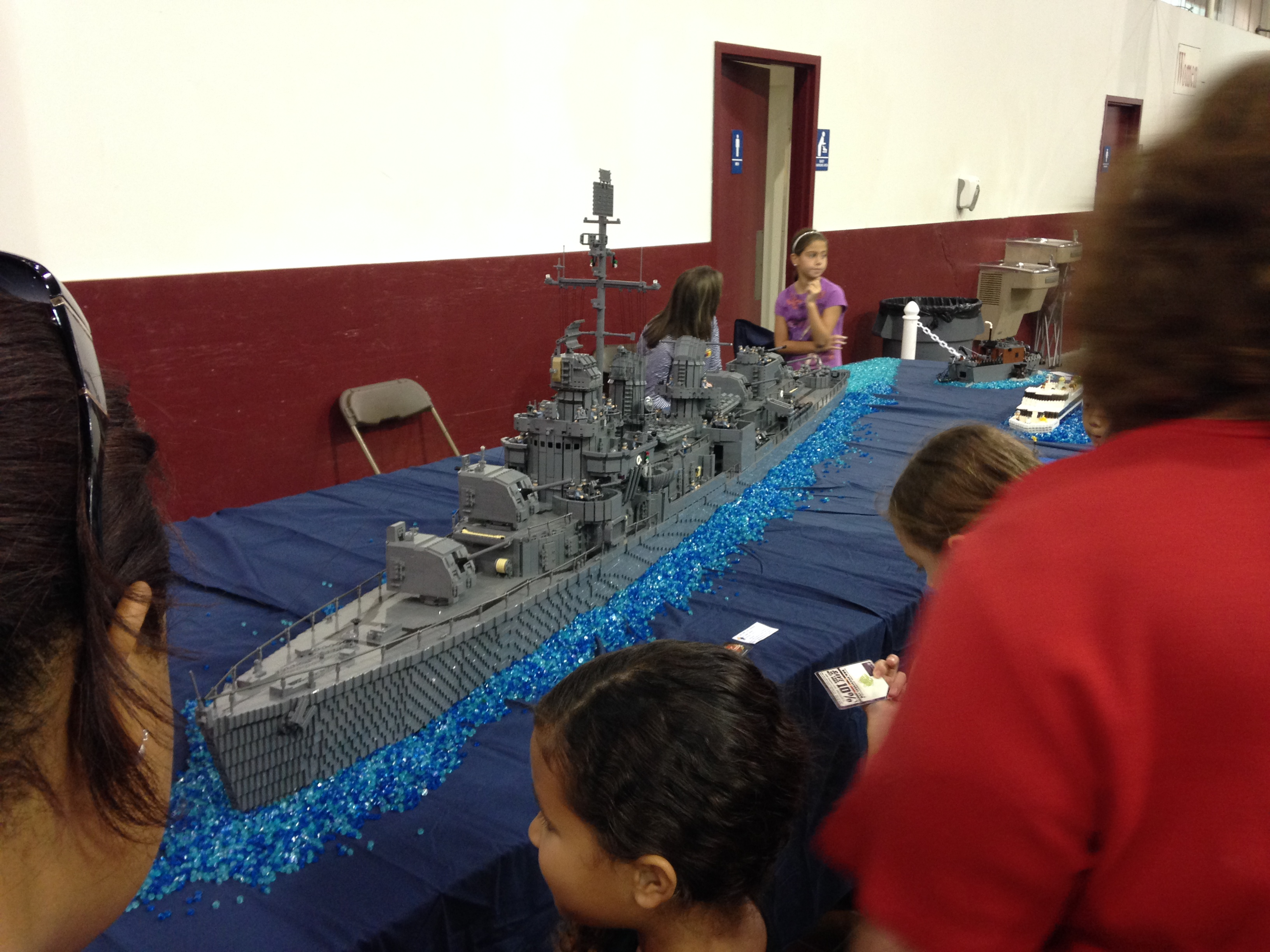 An incredible Navy Ship. I forget how many 1000's of pieces were used.