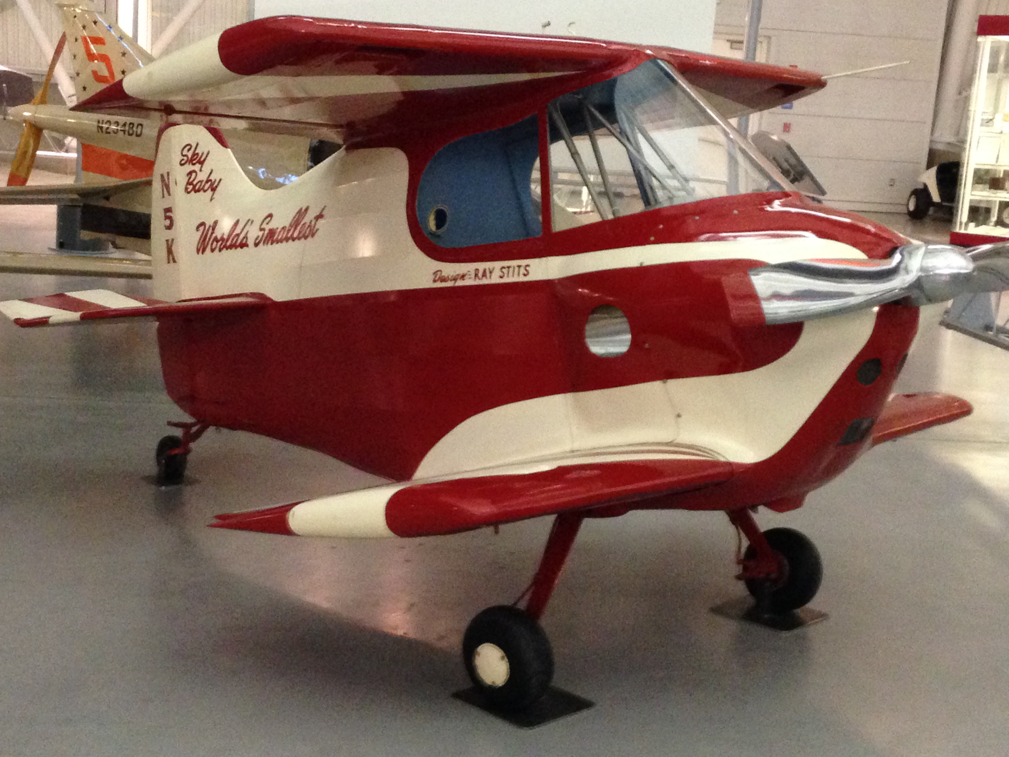 Another cute little plane. I think it might be the 2nd or 3rd smallest plane in the world.