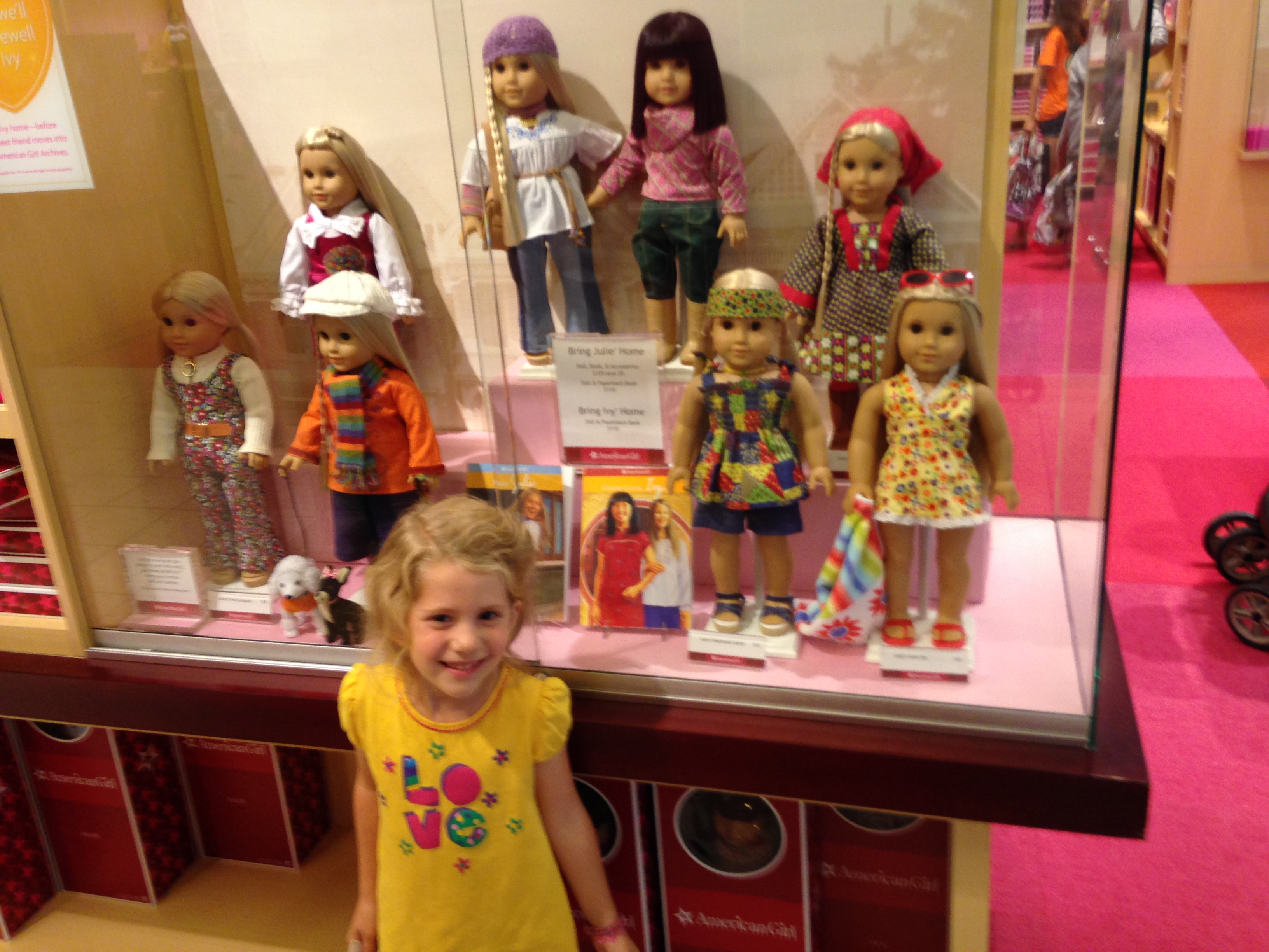 Kaylin with all the Julie dolls