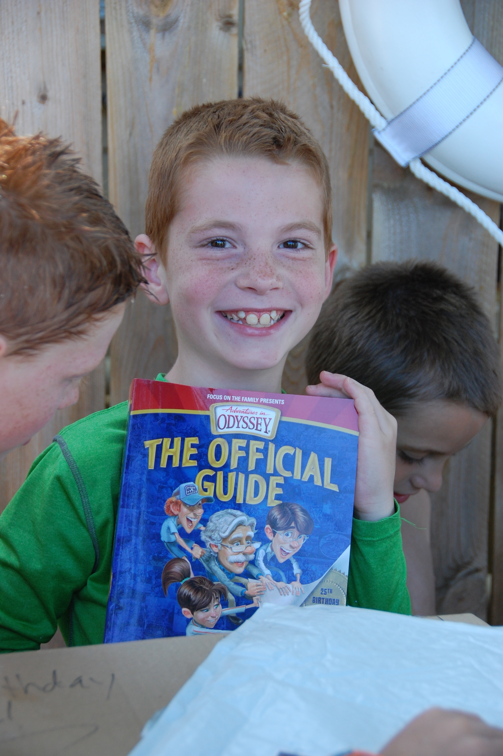 The Official Guide for Adventures in Odyssey! He has read that countless times.