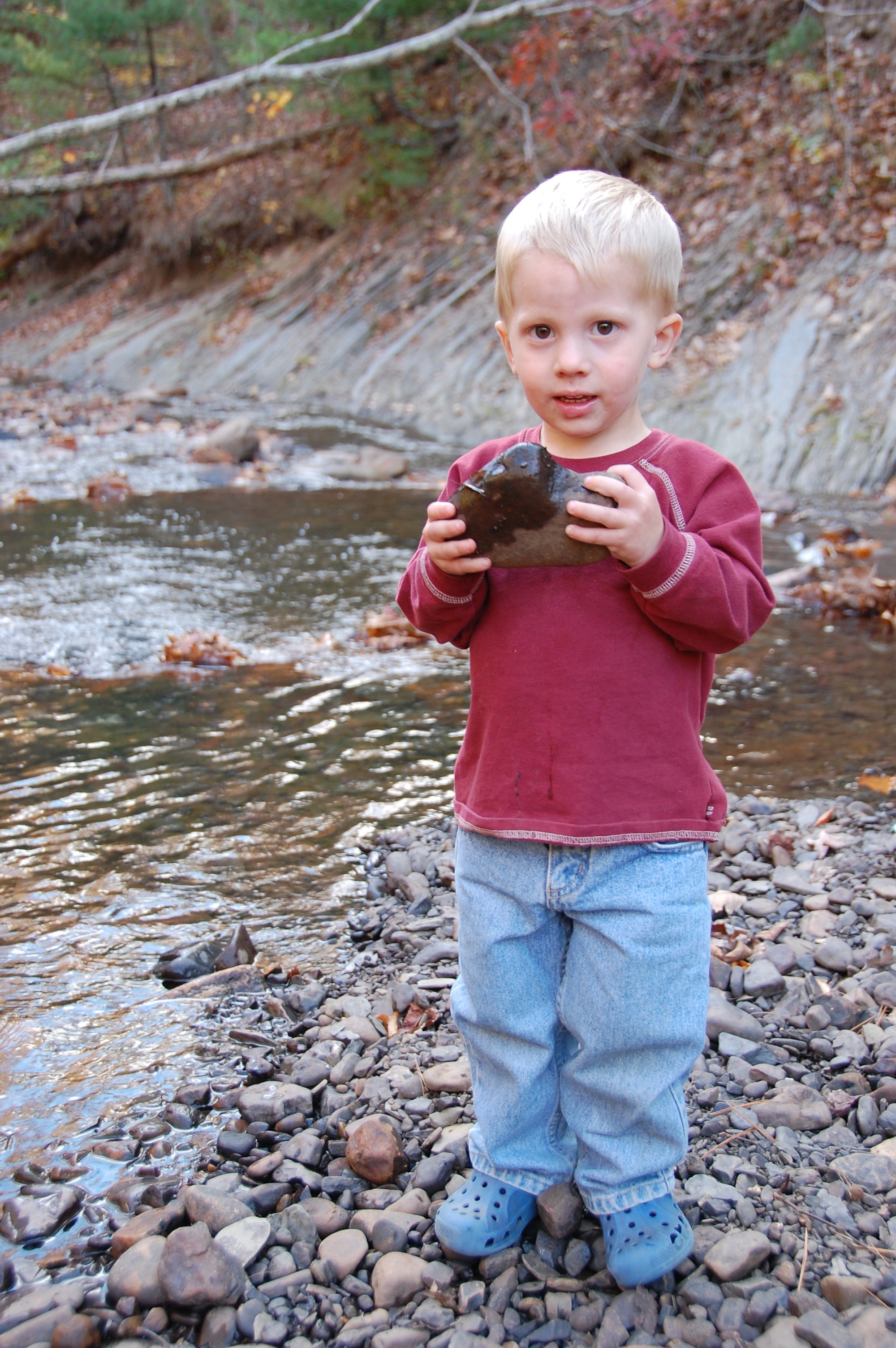 Kilby loved throwing rocks in.