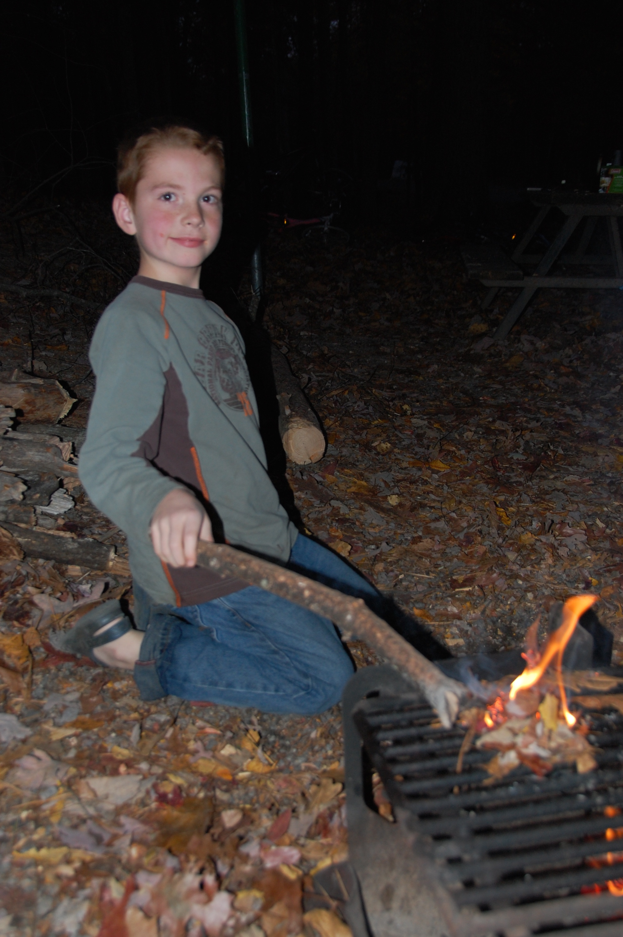 He never got tired of playing in the fire.