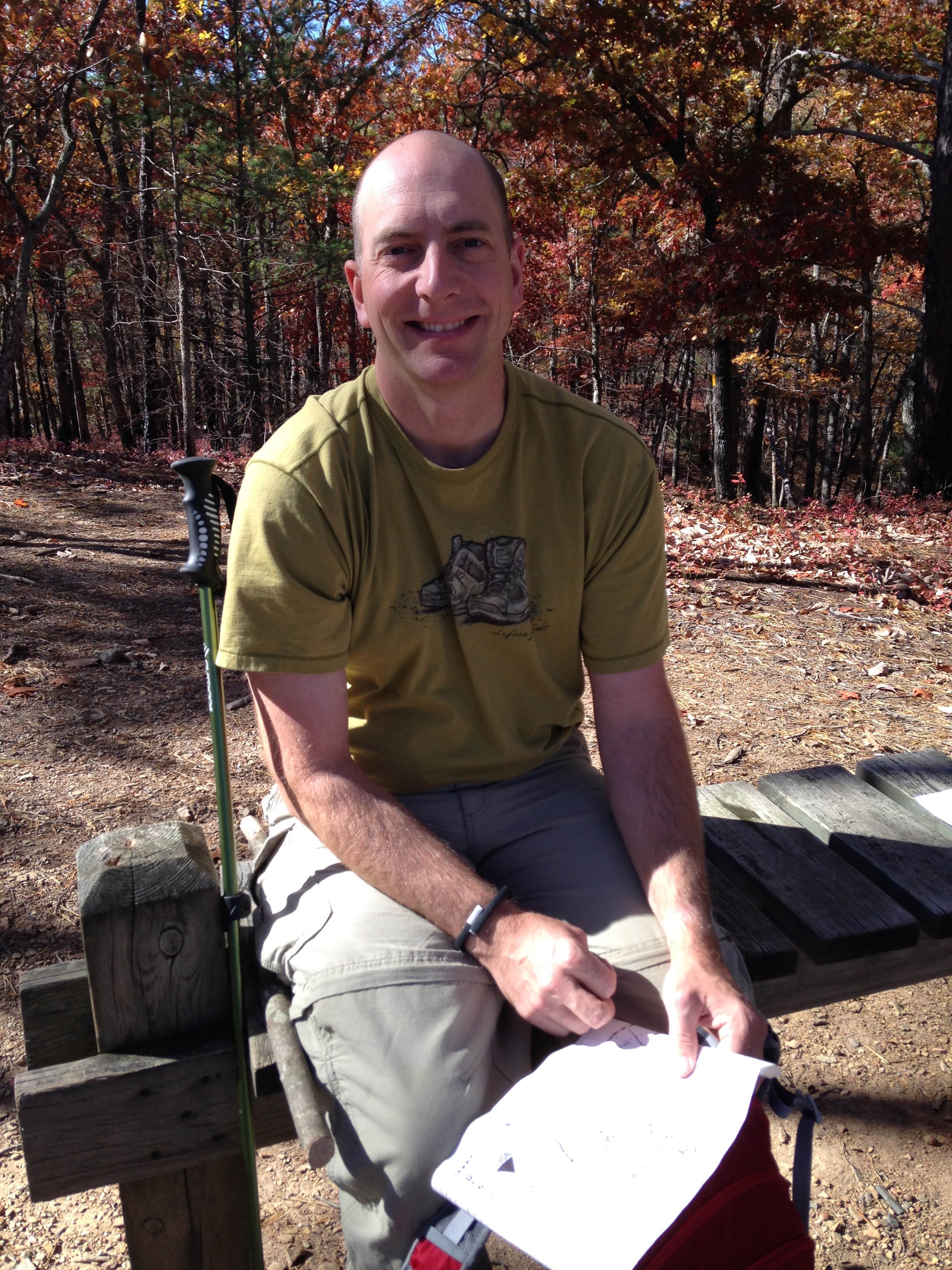 My hiker husband!