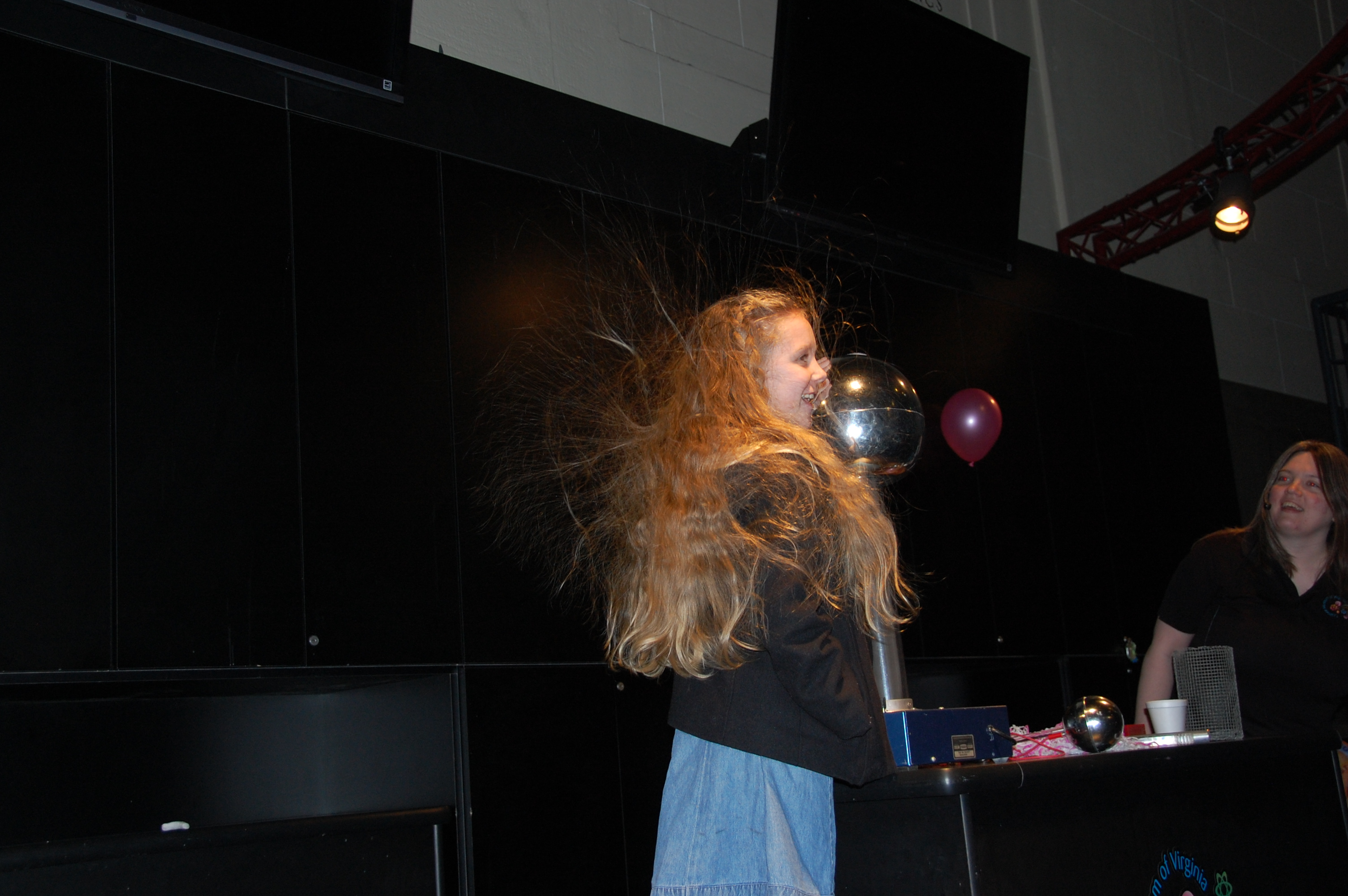 Gracie learning about static electricity.